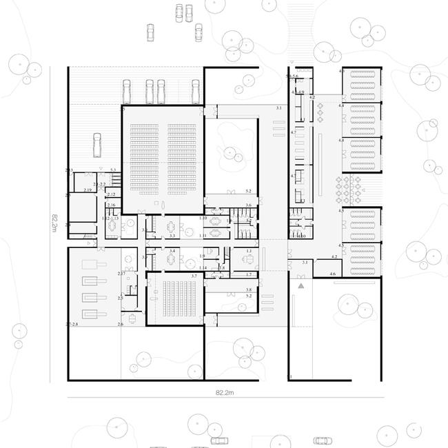 Aalst Crematorium to be built by Claus en Kaan Architecten (ground floor plan