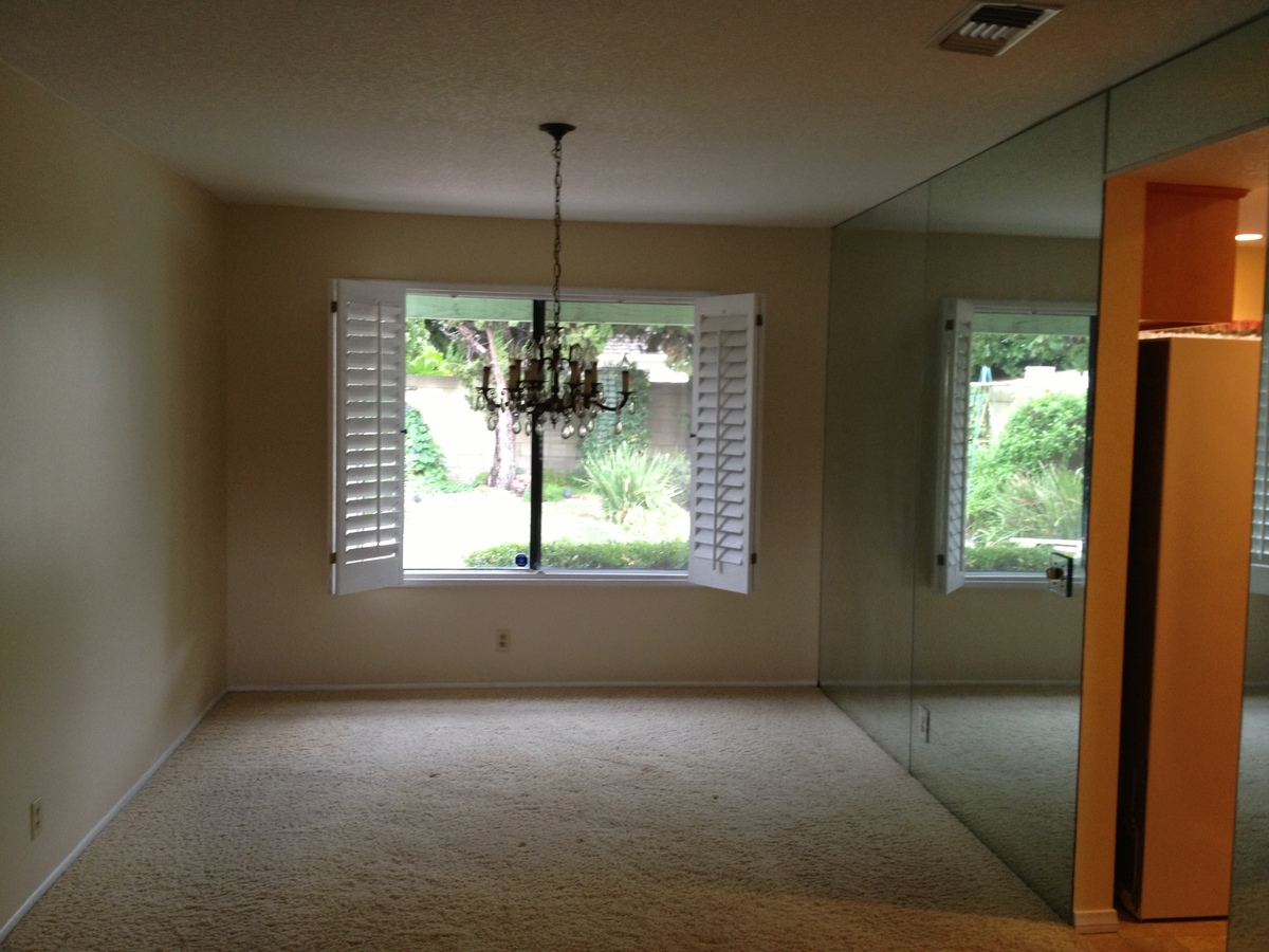 Dining area, existing condition