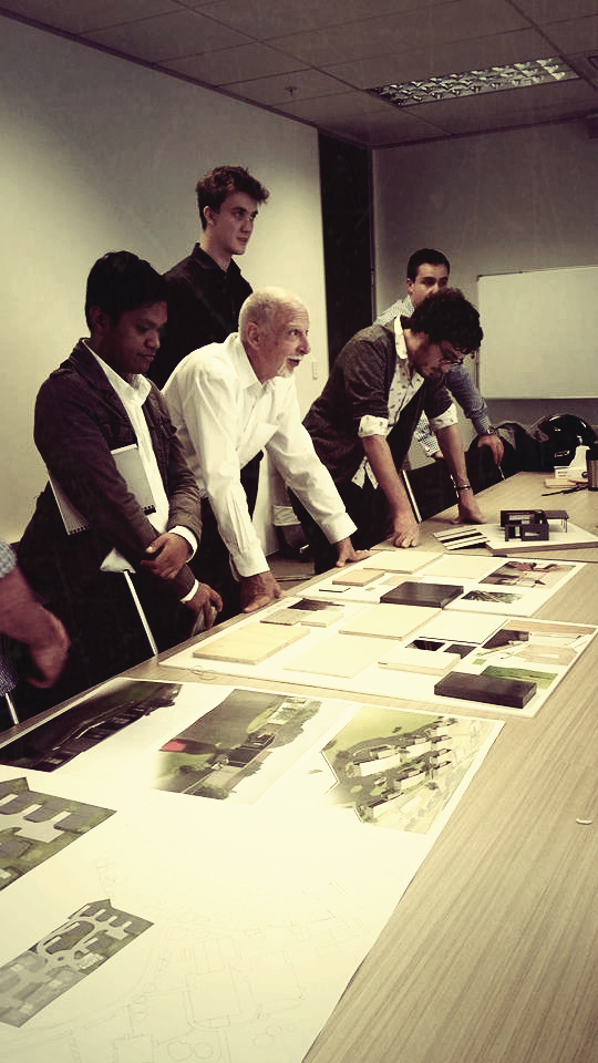 Tony Van Raat [Head of Dept. Architecture @ Unitec and NZIA associate] present at the client meeting on Wednesday.