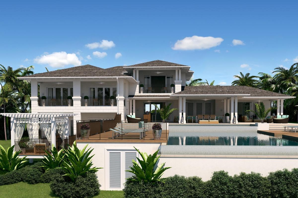 Coomack house at moonshine ridge christian r baker for Carribean house plans