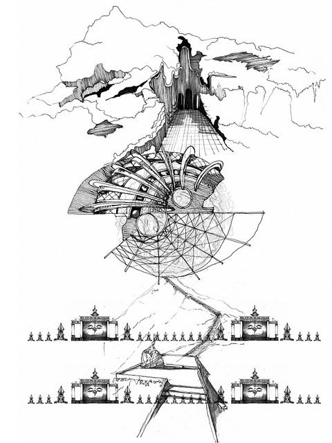 Conceptual Drawing[108 caves]