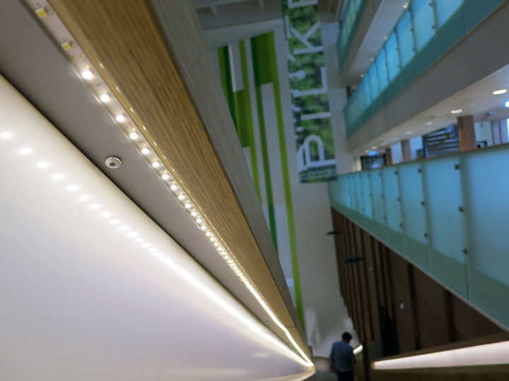 Detail of stairs at the Pilke Science Centre