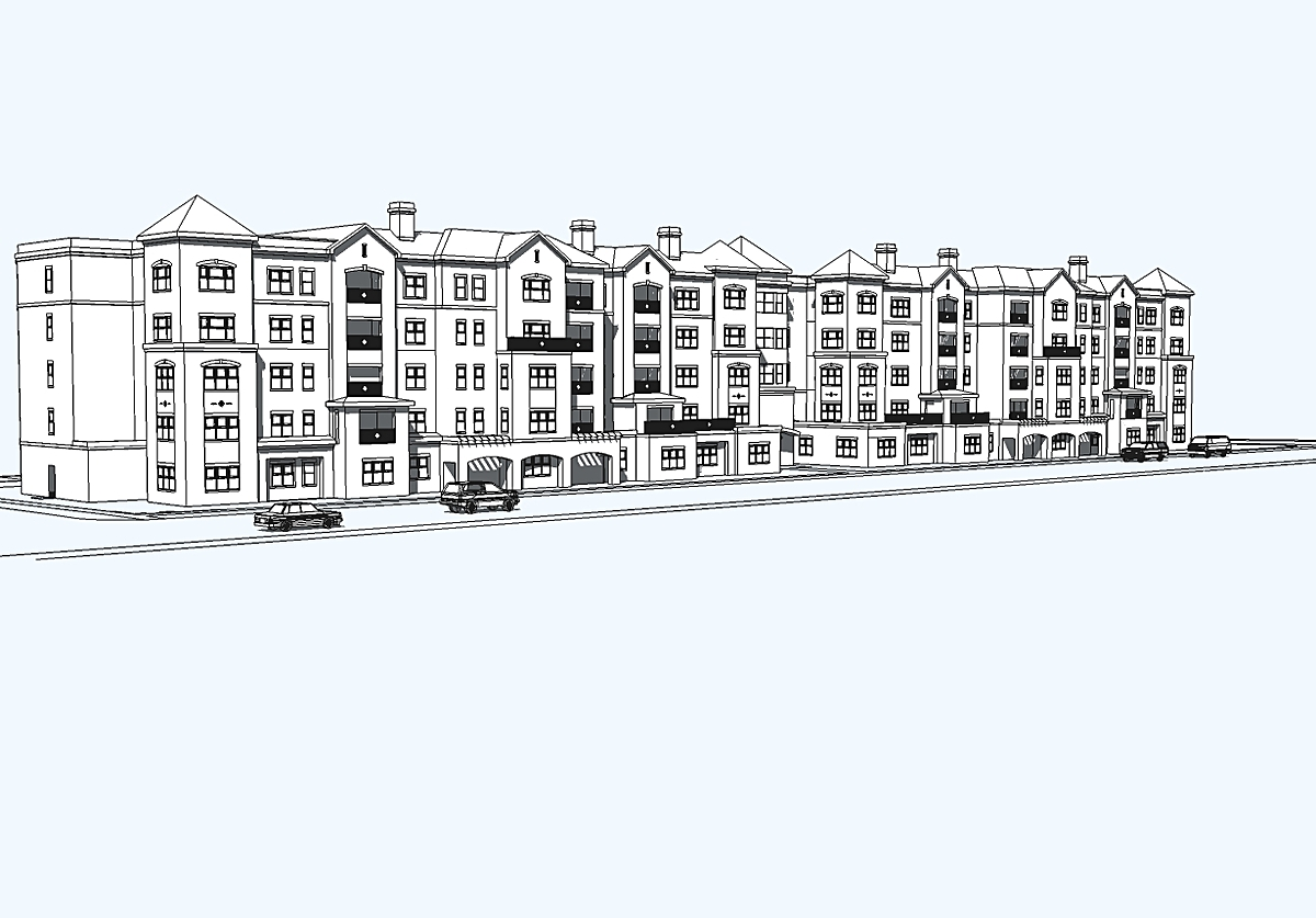 3D Model, Exterior, Arlington Crosssing