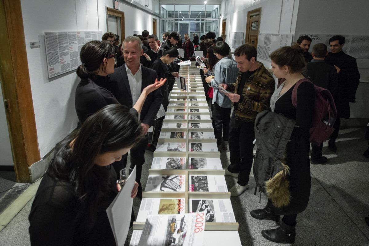 GSAPP Housing Studios, 1974-2014, GSAPP Exhibitions in Avery Hall. Image courtesy of Columbia GSAPP.