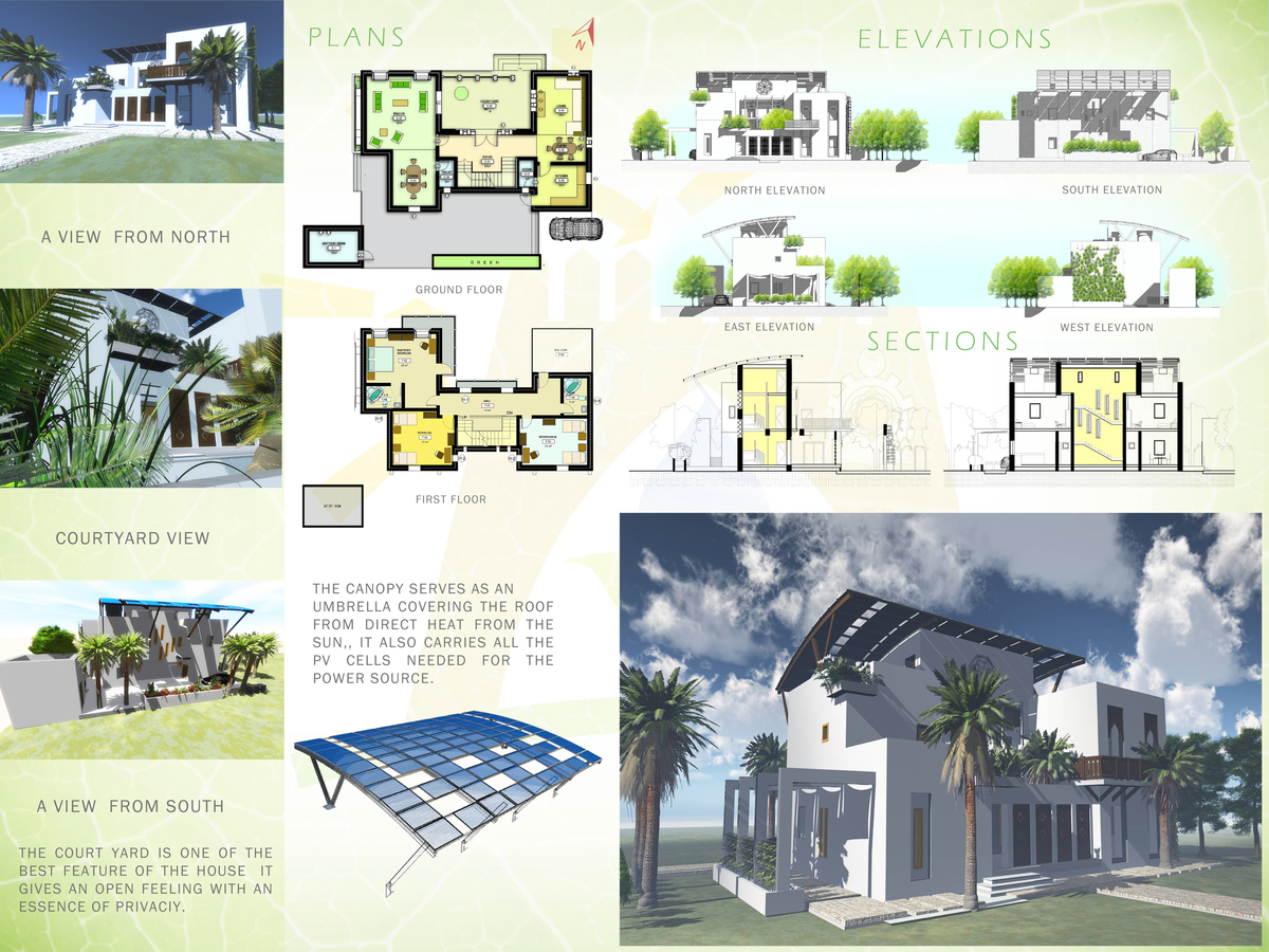 Eco house project islam bouzguenda archinect for Projects house