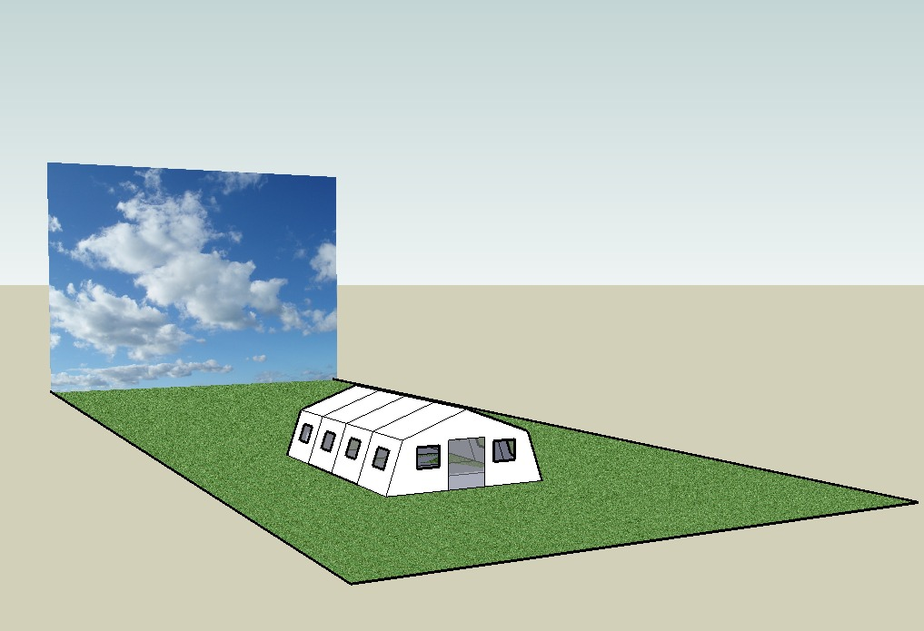 The white tent is the dominant image of refugee architecture, but it is not necessarily the most effective. (Image by the author)