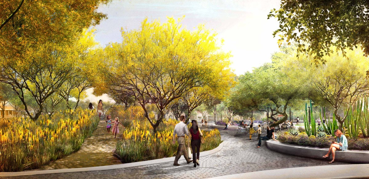 Mesa city center competition colwell shelore landscape for Mesa landscape architects