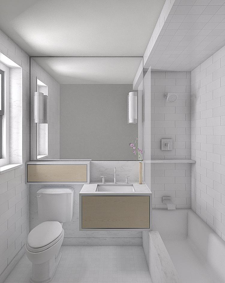 Initial Master Bath Rendering