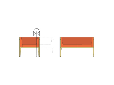 drawings - single/double sofa