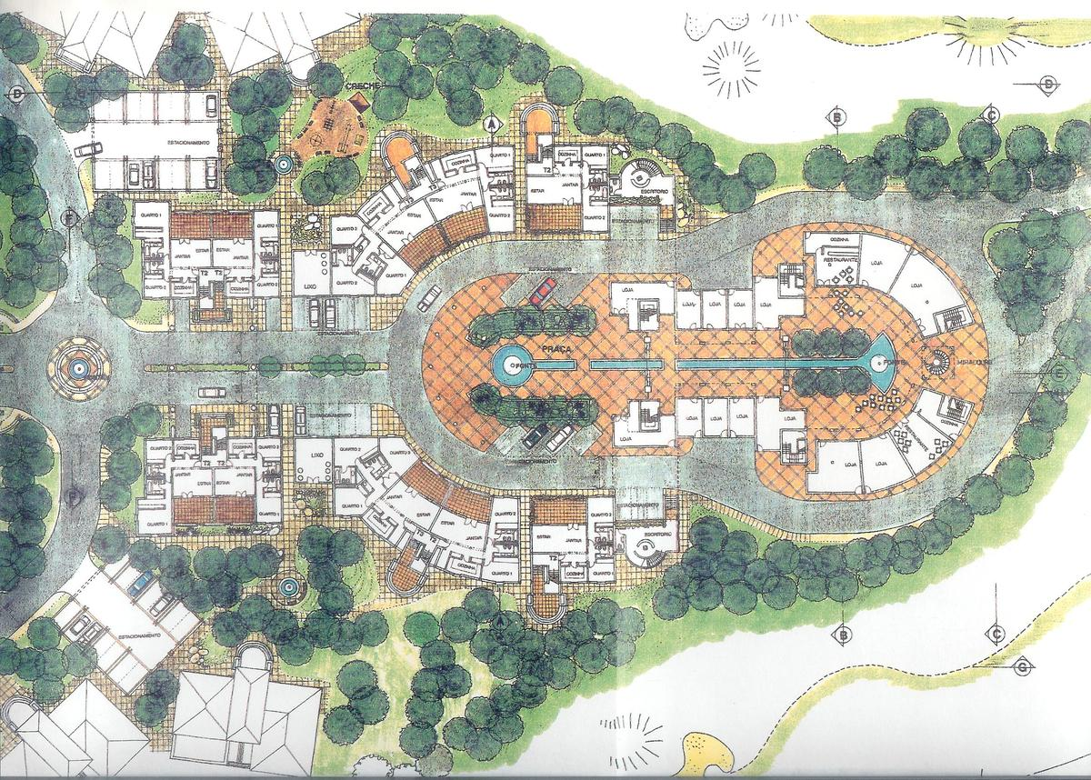 Master plan for a urban design golf course touristic for Hotel design 3 stars