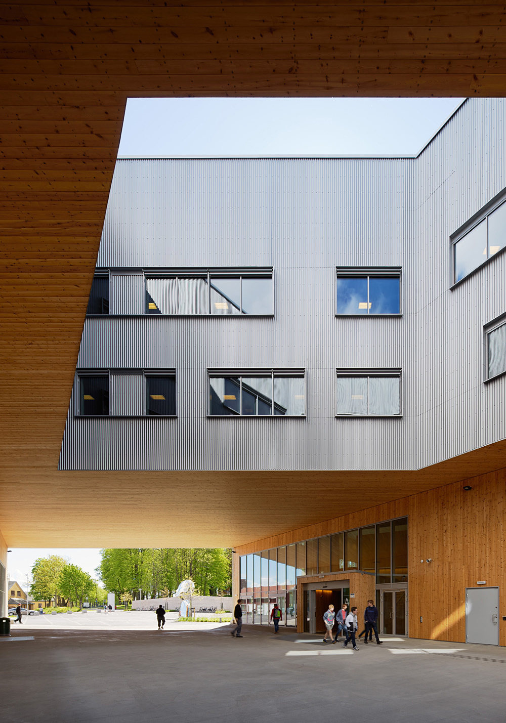 Faerder High School in Tønsberg, Norway by White Arkitekter A/S; Photo: Åke E:son Lindman