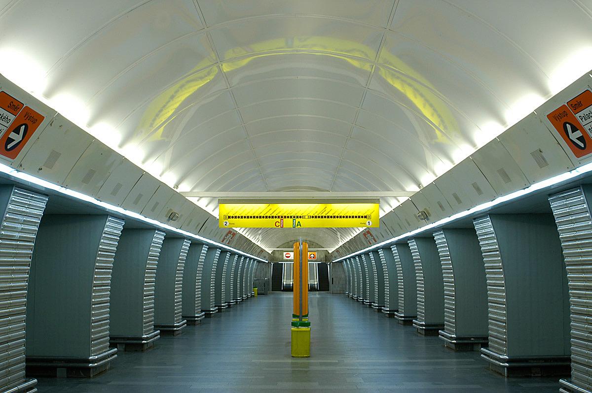 Andel Metro station, Prague, Czech republic.