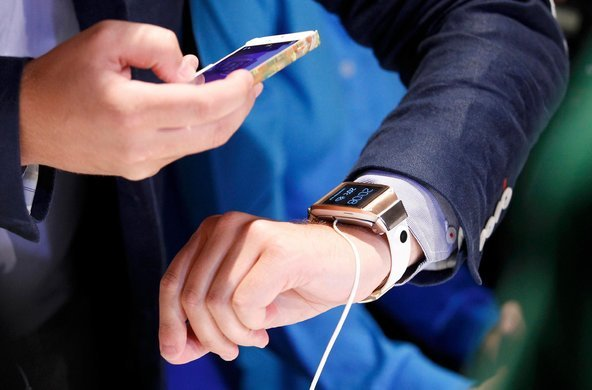 Samsung's Galaxy Gear smartwatch, courtesy of The New York Times.