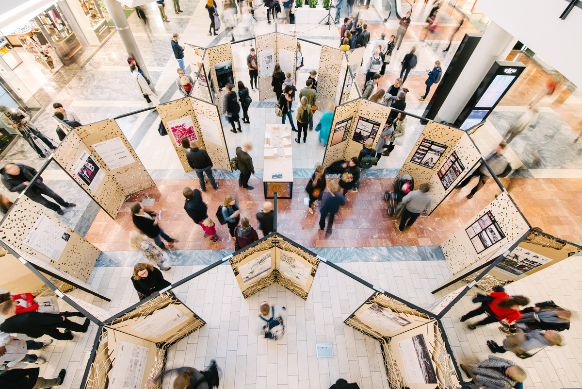 TAB 2015 urban vision competition exhibition at the Viru shopping centre, © TAB 2015