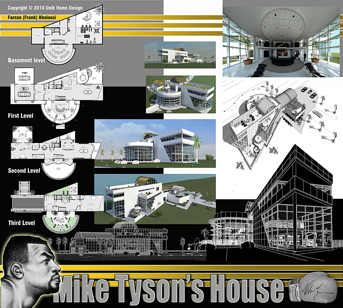 Photoshop was used for graphic boards and Revit and SketchUp were used for design and layout.