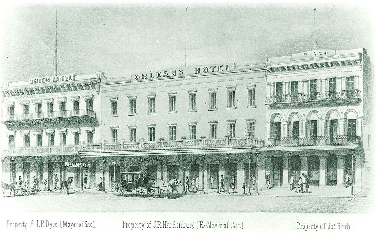 The Orleans; originally called Orleans Hotel, 1855 rendering