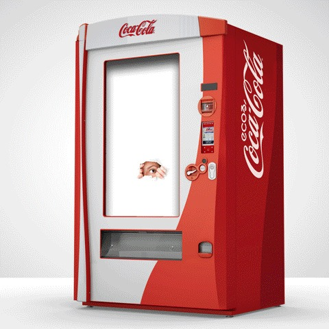 coca cola vending machine refill