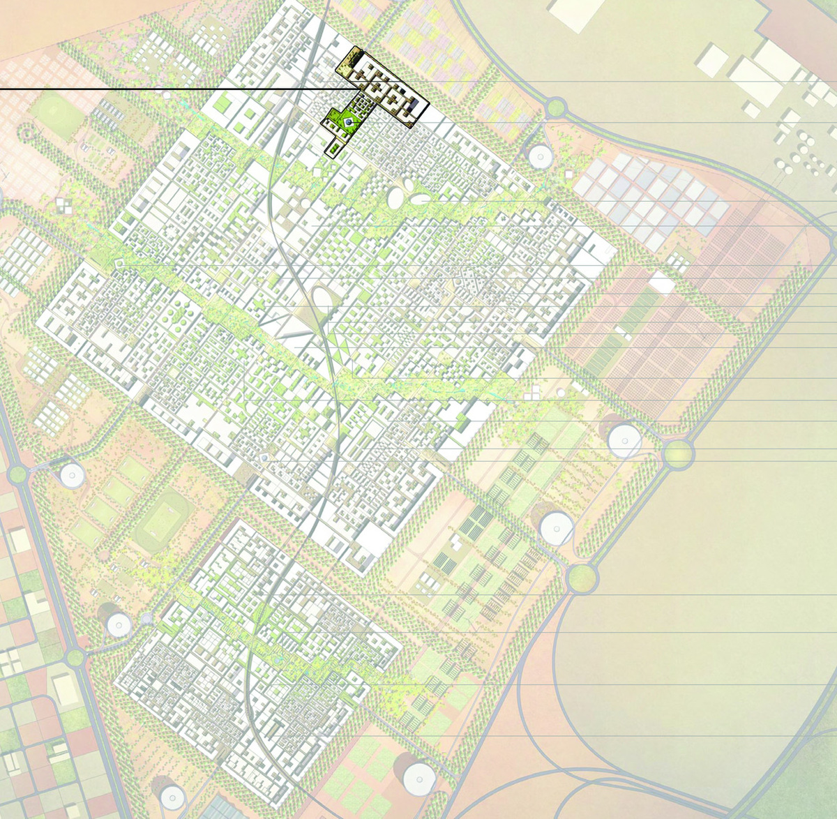 location of project in the City plan