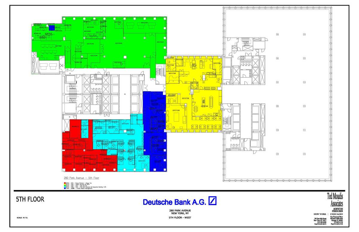 280 Park Ave-5th floor Departmental Plan