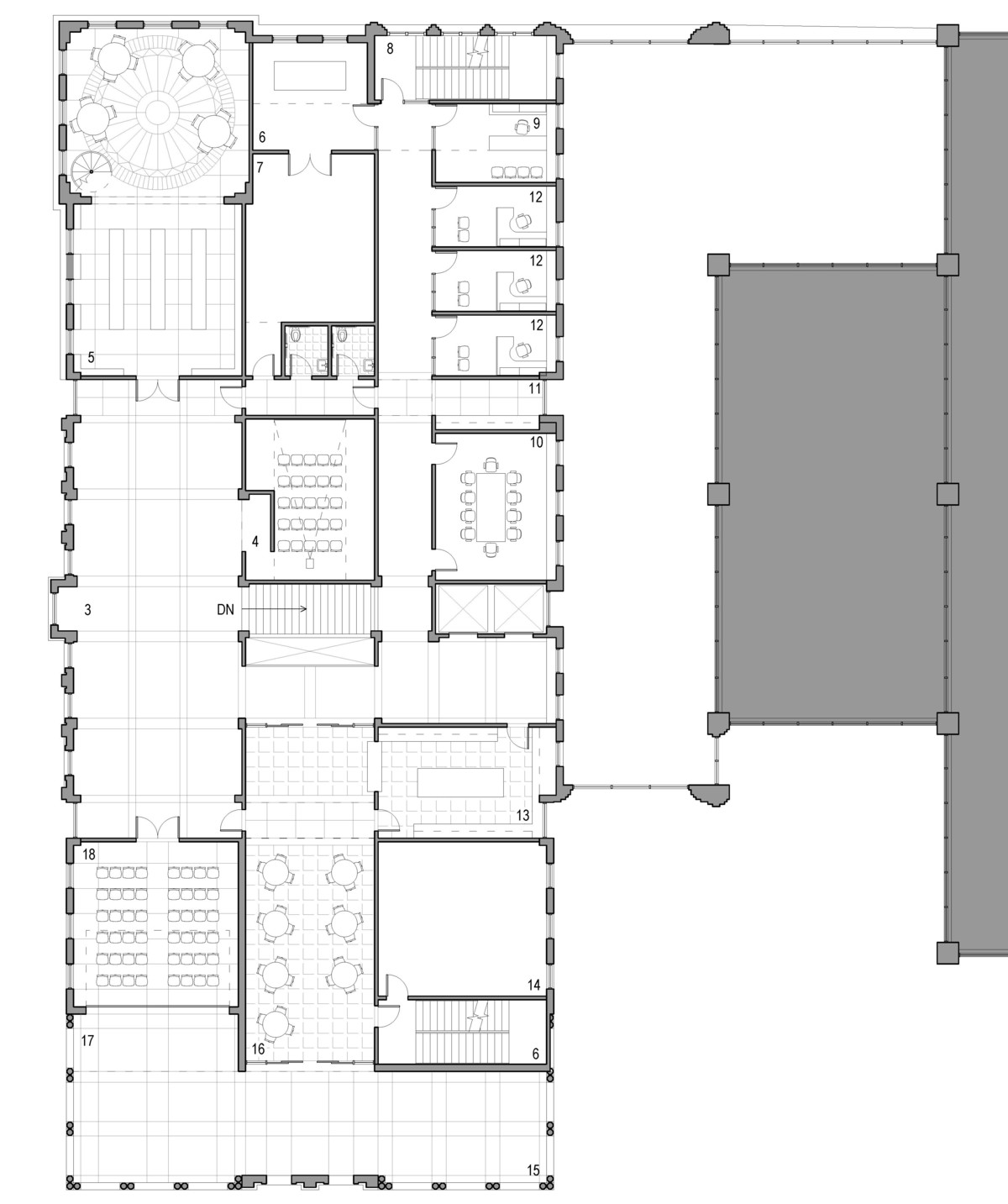 2nd level museum floor plan