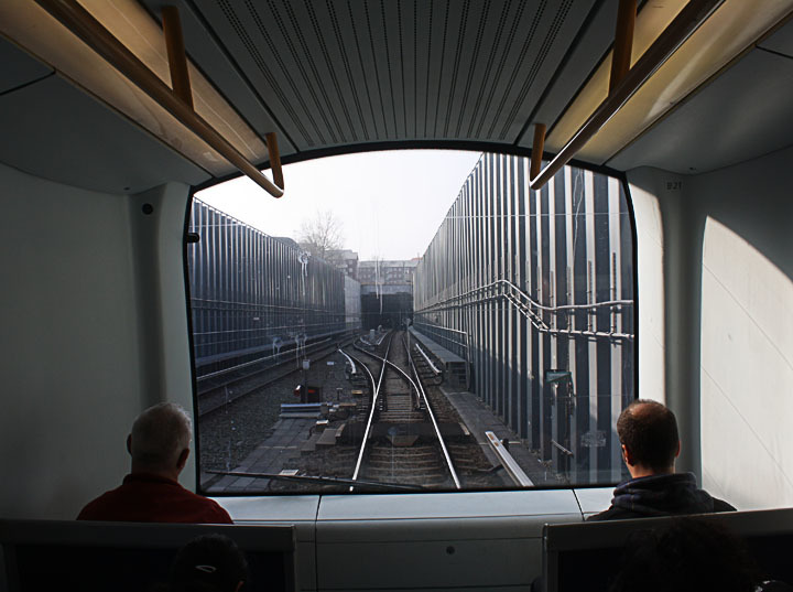 View out of the Copenhagen metro