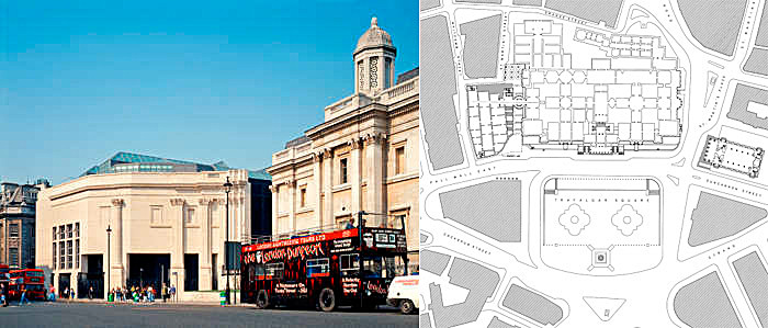 Figure 7 - Sainsbury Wing Extension and Trafalgar Square site plan