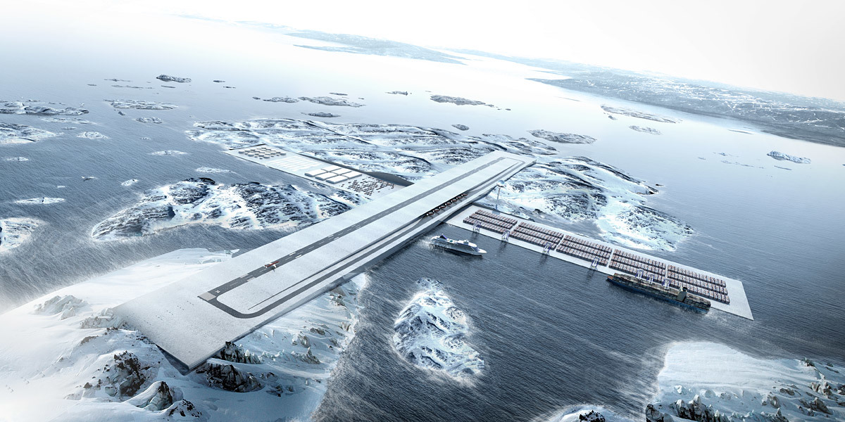 Connecting Greenland: AIR+PORT by BIG in collaboration with TENU, Julie Hardenberg and Inuk Silas Høgh (Image: BIG)