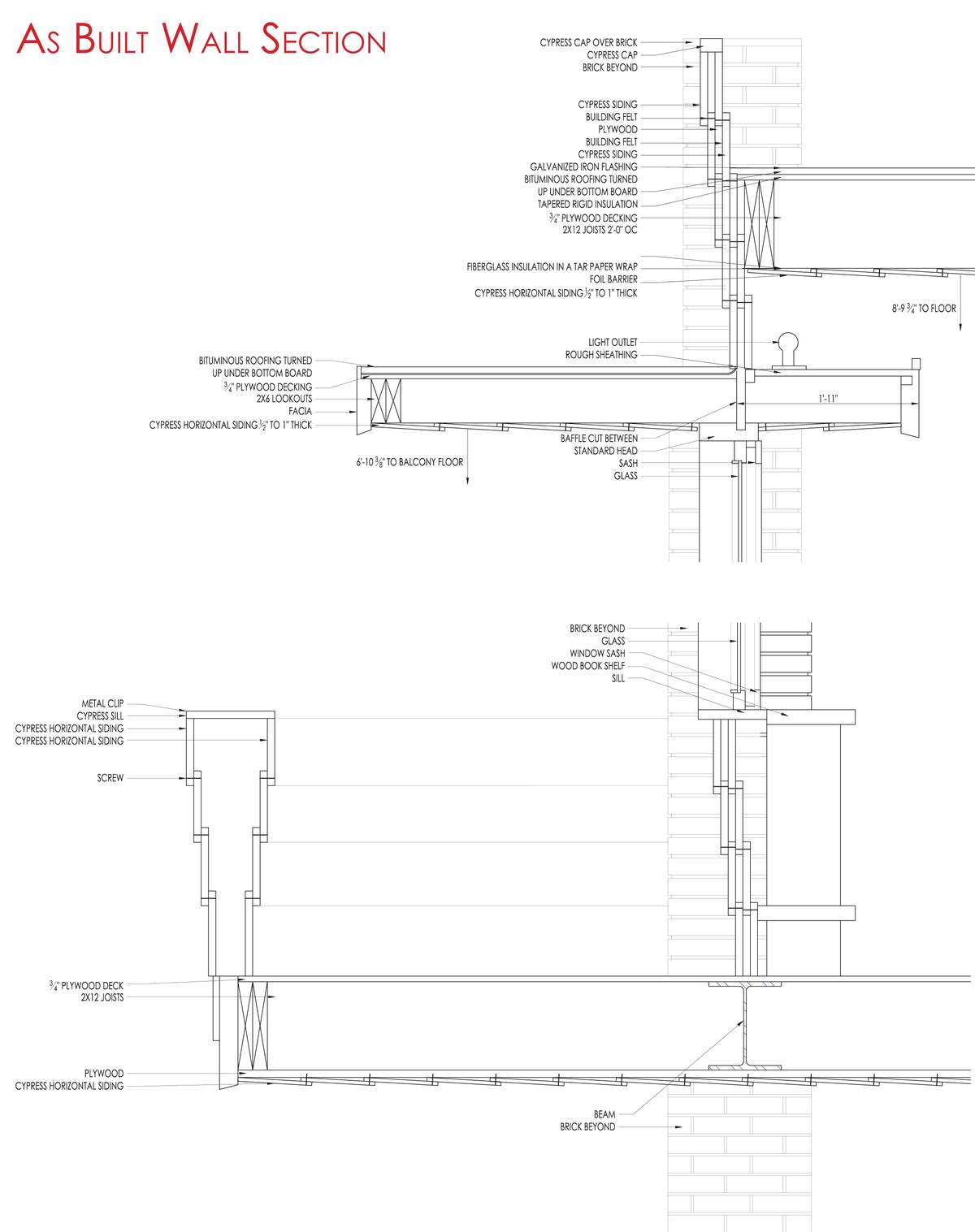 Design Of Details Frank Lloyd Wright S Affleck House