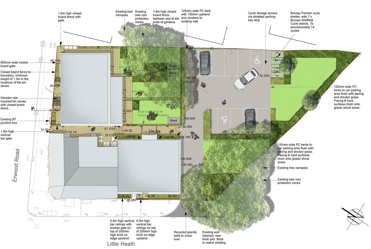 Little heath woolwich london davis landscape for Residential landscape plan