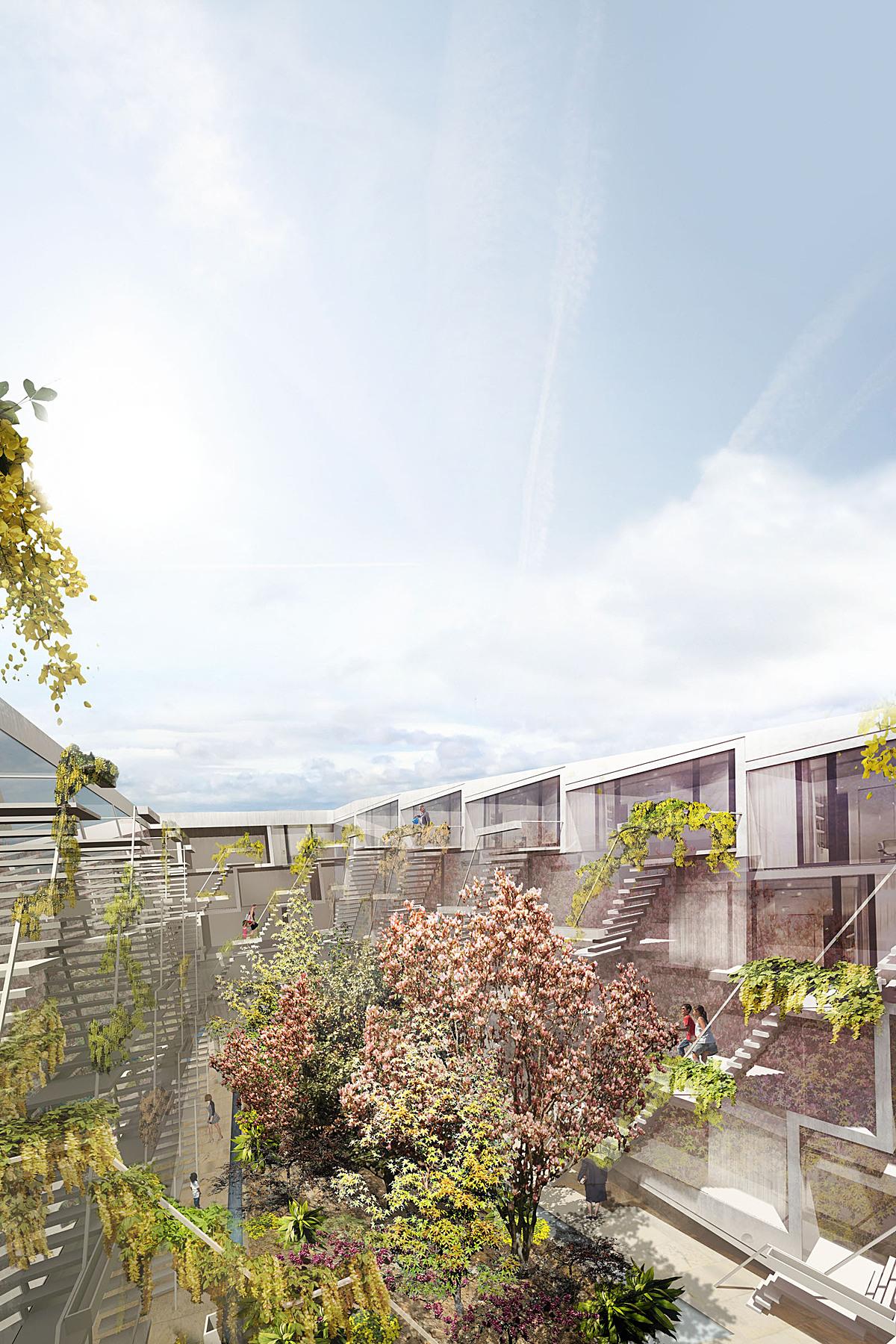 Dots&Loops - garden courtyard