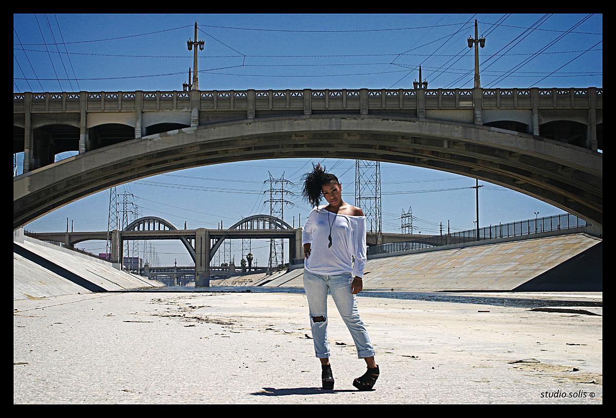 original photo: L.A. River fashion shoot
