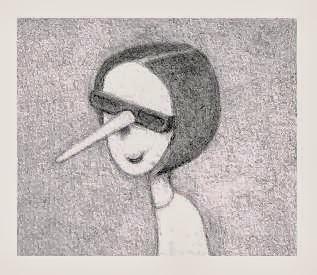 Angela Vettese as Pinocchia (drawing)