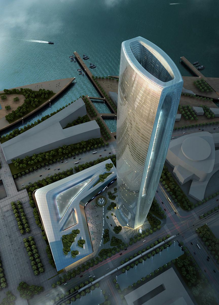 Aerial view (Image: SOM | Crystal CG)
