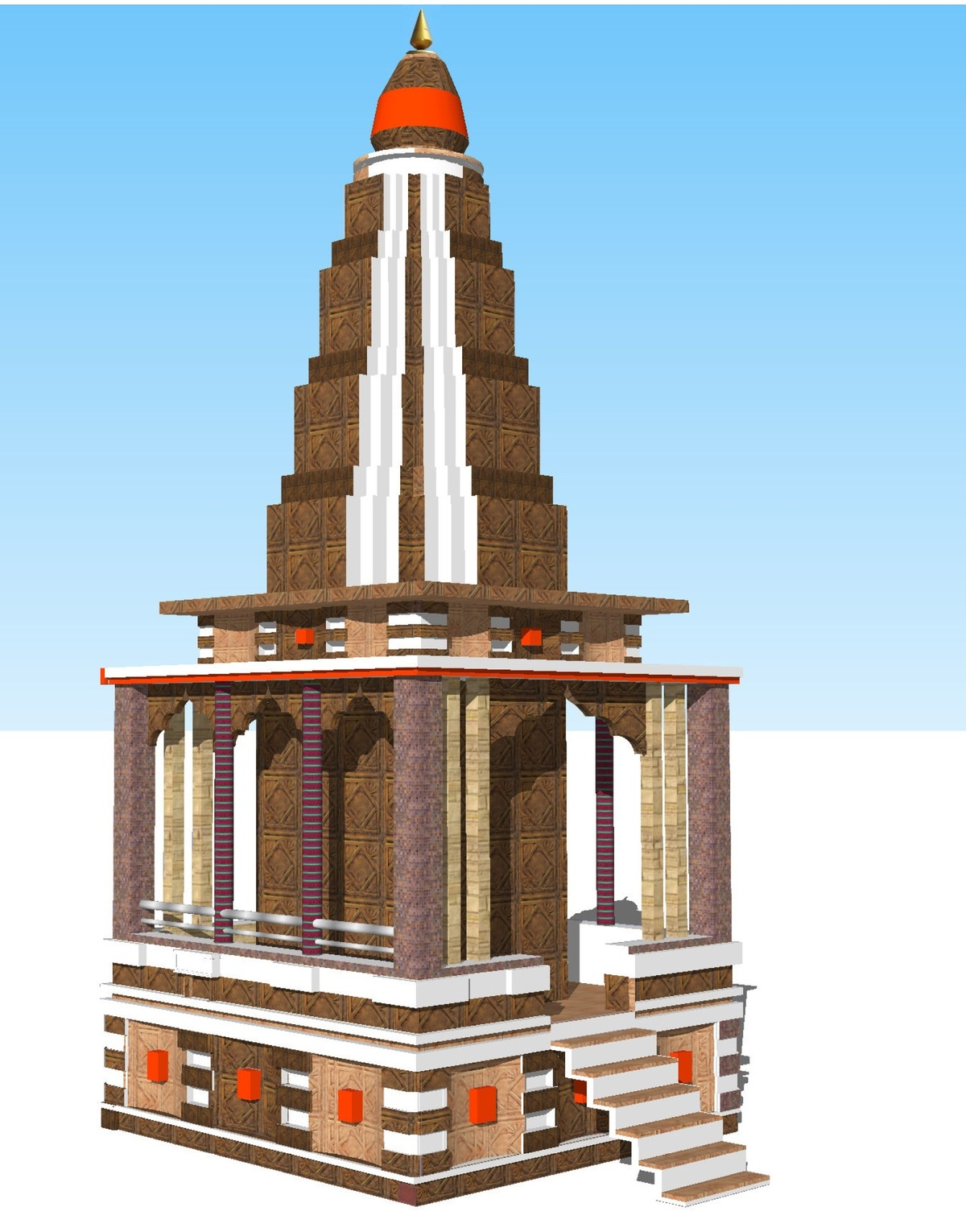 Hanuman temple 3d home manish ingle archinect for Temple inside home designs