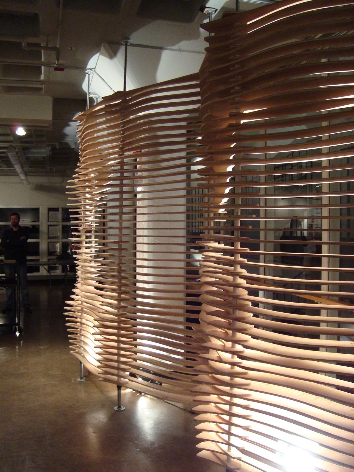 Louver Screen Wall : Louvered screen partition digital fabrication ian
