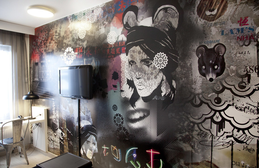 Walldesign for Scandic Hotels by Your Wallpaper