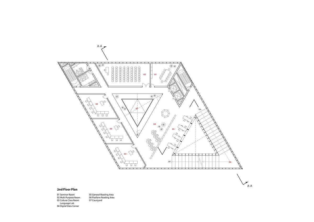 Floor plan - 2F (Image: studio SH)