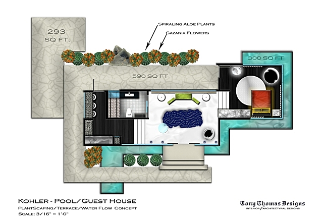 House plans pool house guest house - House and home design