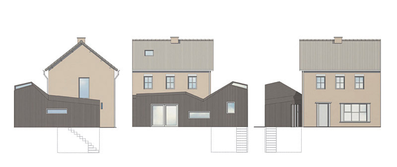 Elevations with basement