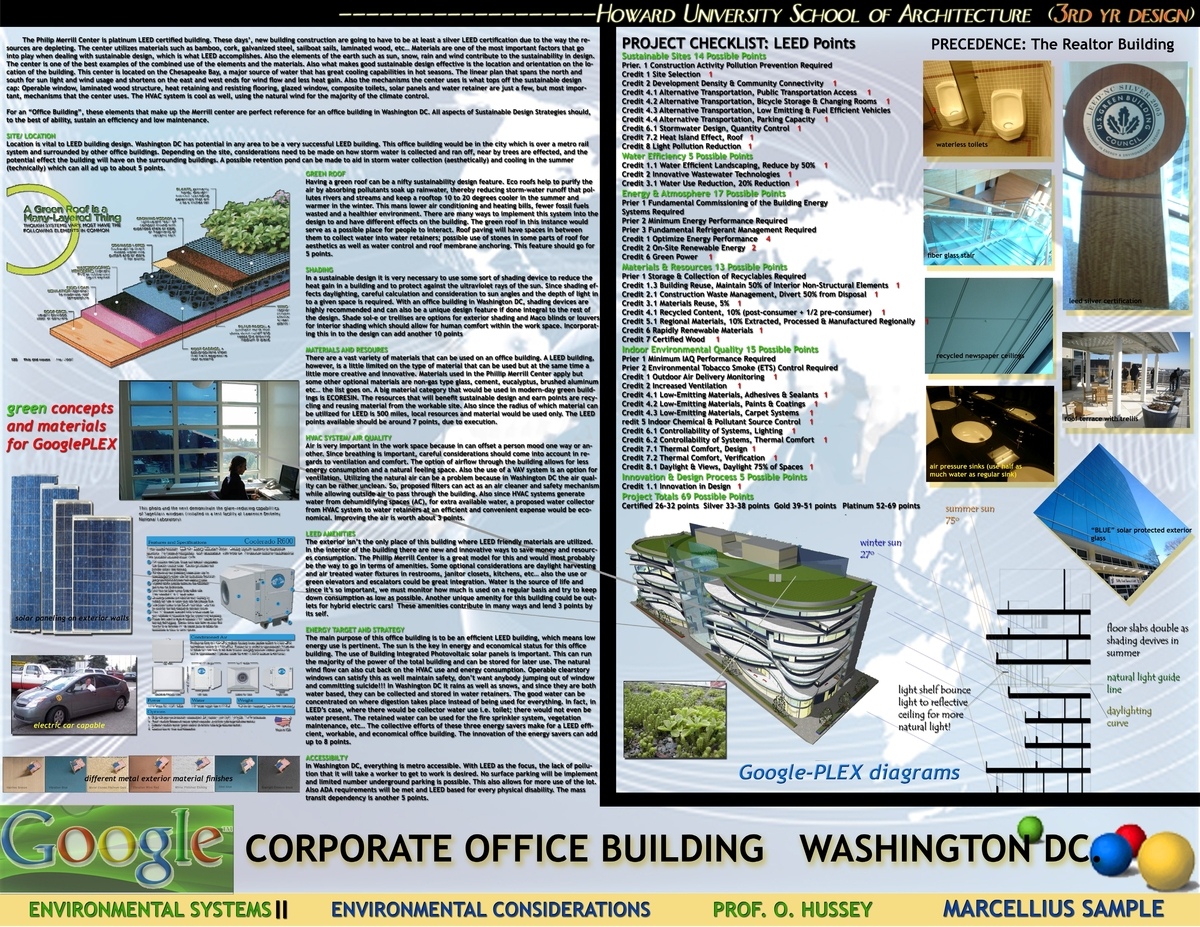 GOOGLE-PLEX, D.C., sustainable systems