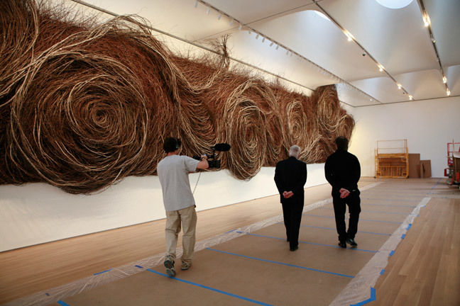 Bending Sticks, a film on environmental artist Patrick Dougherty, who creates unforgettable sculptures from found sticks. The feature is one of 25 other films in this years ADFF line-up. Photo by Frank Konhaus. Photo provided by Novita Communications.