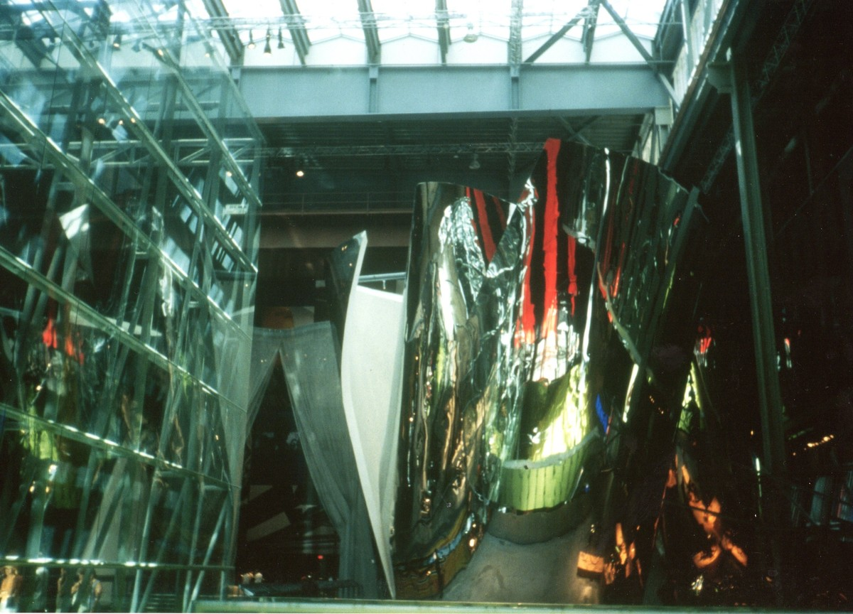 interior photograph of display walls