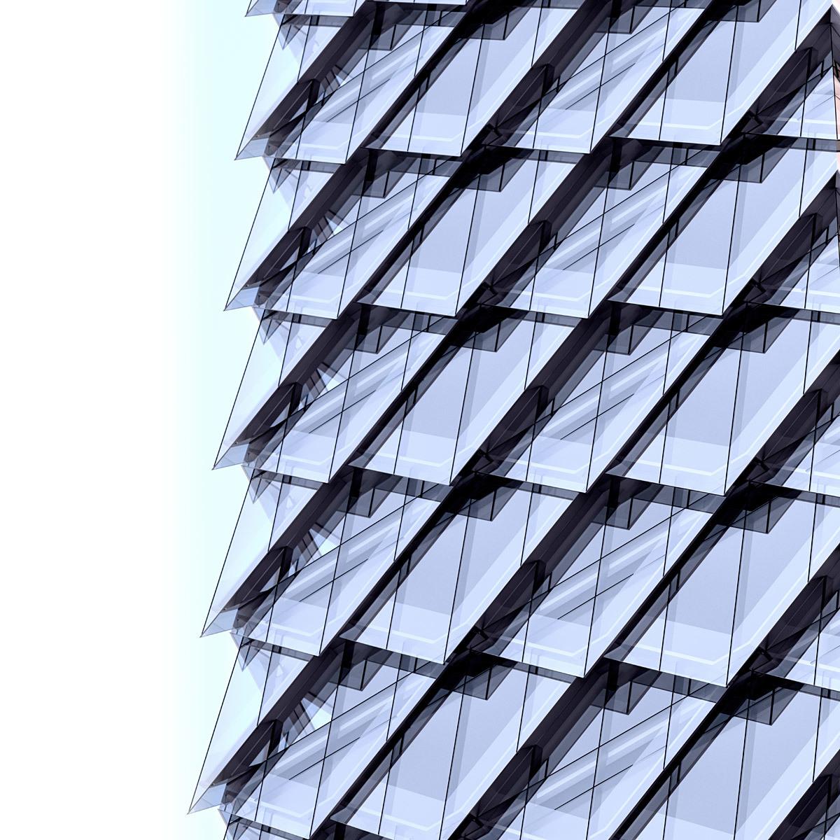 Tower 1 facade close-up (Image: Adrian Smith + Gordon Gill Architecture)