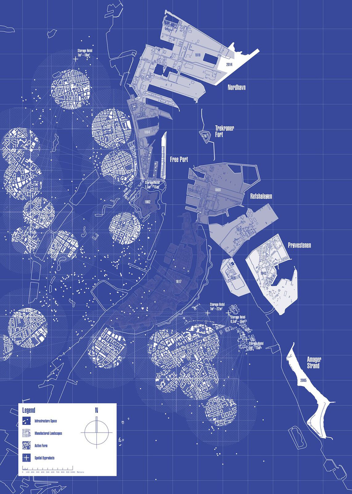 Map poster from IBE#1 Pamphlet. ©InBetween Economies / Studio Atlant
