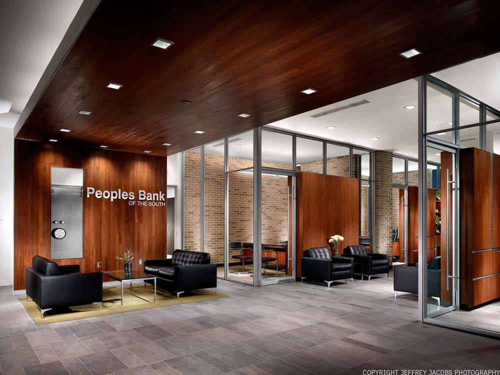 Peoples Bank Of The South Sanders Pace Architecture Archinect