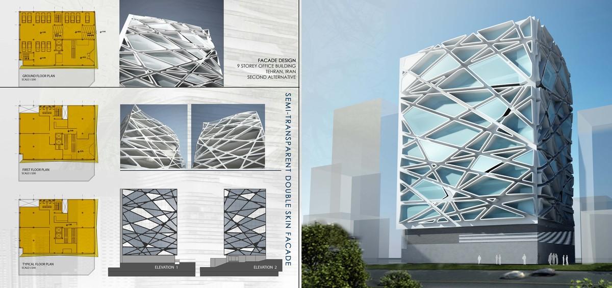 Facade Design For Office Building Azadeh Sahraeian