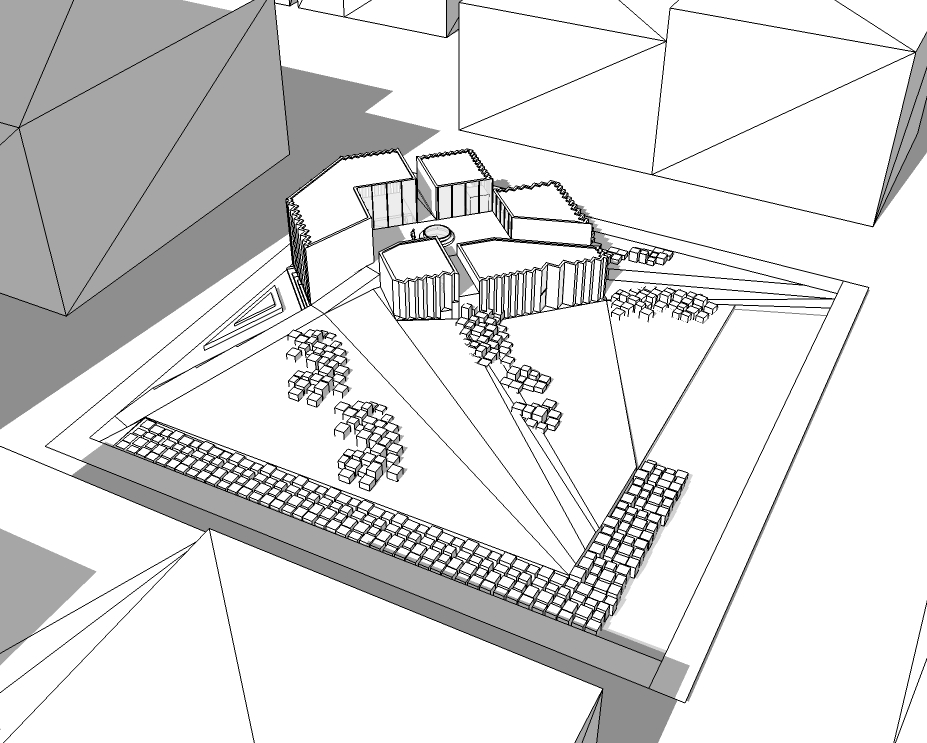 Sketchup of site