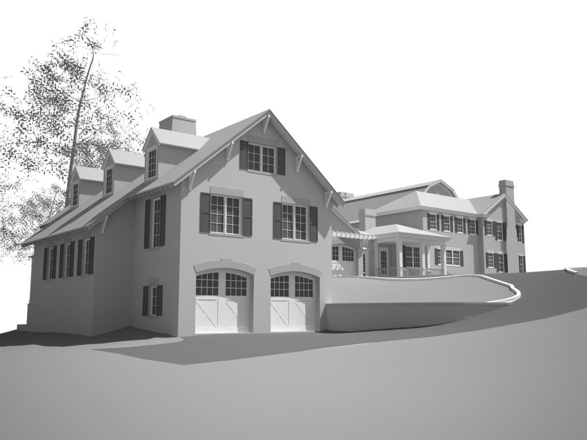 Garage, squash court, great room addition (Greenwich, CT)
