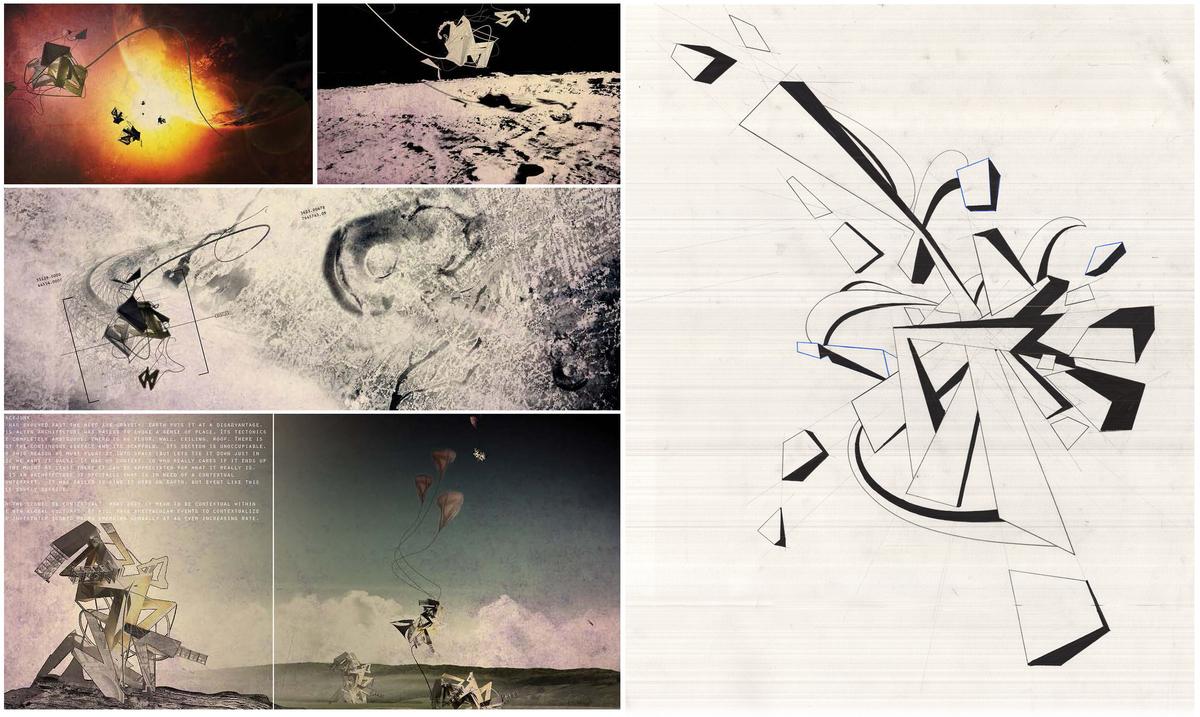 Spacejunk – Digital Collage, Lead on Vellum. Image courtesy of Jim Bogle.