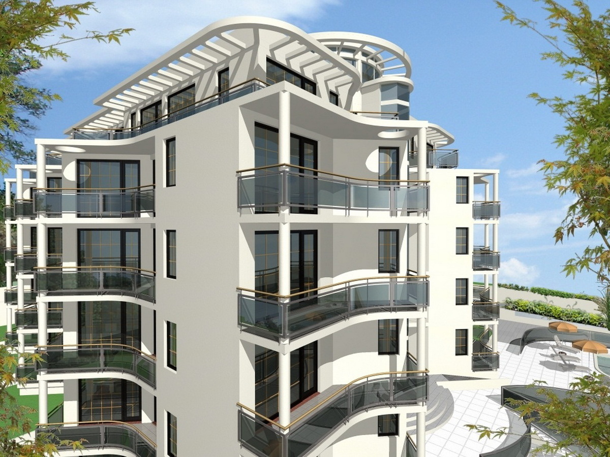 """Complex of Holiday Apartments """"BOMOND"""" - visualization"""